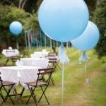"""ลูกโป่งกลมจัมโบ้ไซส์ใหญ่ 36"""" Latex Balloon RB PALE BLUE 3FT สีฟ้าอ่อน/ Item No. TQ-42773 แบรนด์ Qualatex"""