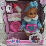 ตุ๊กตาน้องสีเสียง พร้อมอุปกรณ์ (มาใหม่) มี 2 สี สีฟ้า กับ สีชมพู (ซื้อ 3 ชิ้น ราคาส่งชิ้นละ 300 บาท)