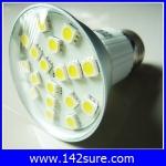 LDL002 หลอดไฟ LED SMD E27-18SMD 2.5W 220V with cover สีขาวอมเหลือง (เทียบเท่าหลอดฮาโลเจน 25-30W) 40,000 ชั่วโมง