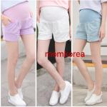 PK76004 กางเกงขาสั้นคนท้องแฟชั่น 2016 มี 3 สี ให้เลือก เนื้อผ้านิ่ม มีผ้าพยุงท้อง เอวเลื่อนได้ตามอายุครรภ์