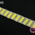 เพชรแถวแบบรีดติด สี่เหลี่ยมสีเหลือง (1แถว)