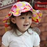 หมวกลายดอก สีม่วง สีแดง สีส้ม สีฟเา MC98