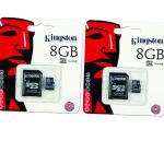 Kingston เมมโมรี่การ์ด Micro SD 8 GB (แพ็ค 2 ชิ้น)
