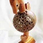 Coconut Shell Lamp (Seahorse) โคมไฟกะลามะพร้าวม้าน้ำ
