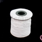 เชือกค๊อตต้อนเคลือบ สีขาว 0.5มิล(1ม้วน)(100หลา)
