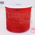หนังชามัวร์(หนังแบน) สีแดง No.9 (1ม้วน/100หลา)