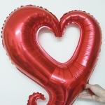 ลูกโป่งฟลอย์รูปหัวใจเสี้ยวใหญ่ มีหลายสี กรุณาระบุสีที่ต้องการ ไซส์ 40 นิ้ว - Heart Shape Foil Balloon/ Item No.TL-G039