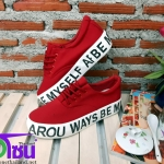 รองเท้าผ้าใบแฟชั่นเกาหลี สีแดง รุ่น B7711 เบอร์36-40