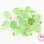 ลูกปัดแก้ว ทรงหยดน้ำ สีเขียวอ่อนใส 10x15 มิล (1ขีด/57ชิ้น)
