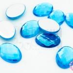 เพชรแต่ง ทรงรี สีฟ้า ไม่มีรู 13X18มิล(10ชิ้น)