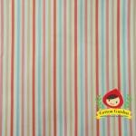 ผ้าฝ้ายญี่ปุ่น ลายทางสีแดง ขาว ฟ้า ของ D's Selection ตัดเสื้อได้ หรือ ทำผ้ารองซับๆน สำหรับกระเป๋า กุ้นขอบ ฯลฯ เนื่อดีราคาประหยัดค่ะ