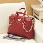กระเป๋า Maomaobag พร้อมส่ง รหัส SUM12-039 ลายตาราง โซ่ทอง
