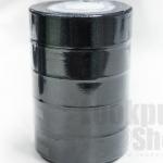 ริบบิ้นผ้าซาติน สีดำ 25มิล(5ม้วน)