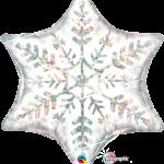 ลูกโป่งฟอลย์ทรงดาว 6PT STAR DAZZLING SNOWFLAKE/ Item No.TQ-20263 แบรนด์ Qualatex