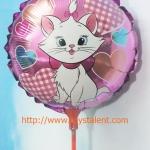ฟลอย์เป่าลม ทรงกลมเล็ก พิมพ์ลายการ์ตูน แมว Marie - Small Round Shape Marie Cat Cartoon Foil Balloon / Item No. TL-B030