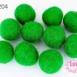 ลูกบอล Feit 20มิล #2 สีเขียวแก่ (5ลูก)