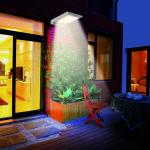 คมไฟ LED Solar Lamp พร้อมเซนเซอร์ตรวจจับการเคลื่อนไหว ขนาด 2.5วัตต์ (สว่างตลอด) Solar Powered Bright 46 Led Wireless PIR Motion Sensor Security Wall Light