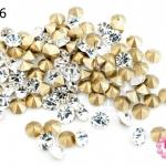 เพชรตูดแหลม สีขาวใส 5มิล #20 (100เม็ด)