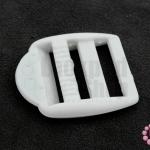 ตัวปรับสายกระเป๋า พลาสติก สีขาว 34X39มิล(1ชิ้น)