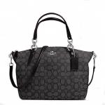 กระเป๋า COACH OUTLINE SIGNATURE SMALL KELSEY SATCHEL F36625 : SMOKE/BLACK