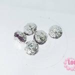ตัวแต่งสร้อยหินนำโชคบอลเพชร แถวเดียวสีเงิน เพชร สีม่วงอ่อน 10 มิล