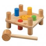 ของเล่นไม้ ของเล่นเด็ก ของเล่นเสริมพัฒนาการ Hammer Peg ค้อนตอกสอนสี (ส่งฟรี)