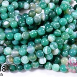 หินอาเกตดวงตา สีเขียว 8 มิล (จีน)