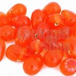 ลูกปัดแก้ว ทรงหยดน้ำ สีส้ม 10x15 มิล (1ขีด/57ชิ้น)
