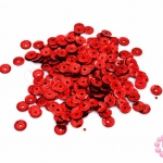 เลื่อมปัก กลม สีแดงดิสโก้ 5มิล(5กรัม)