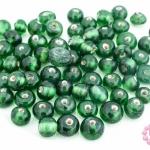 ลูกปัดแก้ว ทรงกลม สีเขียว (ใส) 5มิล(100กรัม)
