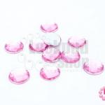 เพชรแต่ง กลม สีชมพู ไม่มีรู 12มิล(10ชิ้น)