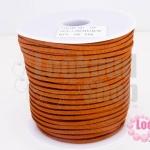 หนังชามัวร์(หนังแบน) สีน้ำตาลแดง No.30 100หลา(1ม้วน)