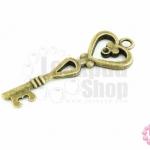 จี้ทองเหลือง กุญแจ 15X41มิล (1ชิ้น)