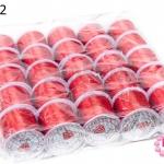 เอ็นยืด สีแดง ม้วนใหญ่ (25ม้วน)
