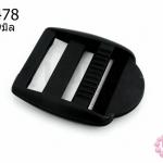 ตัวปรับสายกระเป๋า พลาสติก สีดำ 33X39มิล(1ชิ้น)
