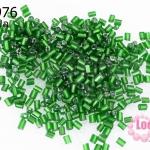 ลูกปัดจีน ปล้องสั้น สีเขียว 2X2มิล (5กรัม)