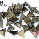 เพชรสอยสีทองเหลือง สามเหลี่ยม2รู 11X13มิล (1ขีด/623ชิ้น)