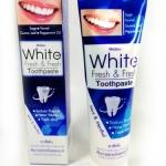 Mistine White Fresh&Fresh Toothpaste ยาสีฟันสูตรฟันขาว ไม่ทำลายสารเคลือบฟัน