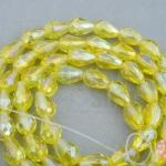 คริสตัล ทรงหยดน้ำ สีเหลืองอ่อน 8มิล(1เส้น)