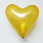 ลูกโป่งหัวใจเนื้อเมททัลลิก สีทอง ไซส์ 12 นิ้ว แพ็คละ 10 ใบ (Heart Shape Balloon-Metallic Gold Color)