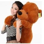 ตุ๊กตาหมียิ้ม สีน้ำตาลเข้ม ขนาด 1.6 เมตร
