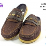 รองเท้าคัชชูเปิดส้น SHOEPER (ชูเปอร์) รุ่น M1-26145 สีน้ำตาล เบอร์40-45