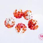 บอลเพชร เกรดดี 10 มิล ไล่สี สีส้มแดง