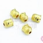 ตัวแต่งสีทอง เศียรพระ 10มิล(5ชิ้น)
