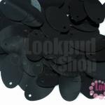เลื่อมรีใหญ่ สีดำ 14X21มิล(5กรัม)