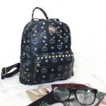 กระเป๋าเป้ Style เกาหลี รหัส SUC0030BK สีดำ แต่งหมุดทอง สวยค่ะ