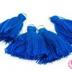 พู่ไหมประดิษฐ์ สีน้ำเงิน 3ซม. (4ชิ้น)
