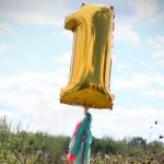 """ลูกโป่งฟอยล์รูปตัวเลข 1 สีทอง ไซส์จัมโบ้ 40 นิ้ว - Number 1 Shape Foil Balloon Size 40"""" Gold Color"""