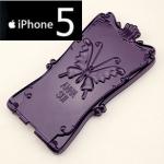 ** หมดค่ะ ** เคส iPhone 5 ANNA SUI Magic Mirror ฝาพับ สีม่วง