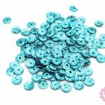 เลื่อมปัก กลม สีฟ้าดิสโก้ 6มิล(5กรัม)